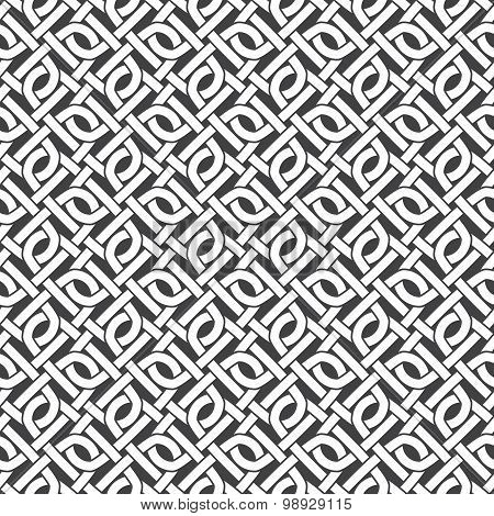 Seamless pattern of intersecting zeros