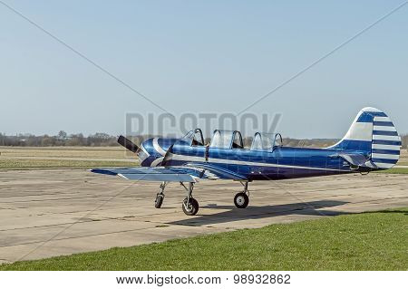 A Small Plane At The Airport