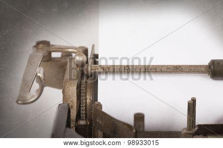 Typewriter Detailed Macro Closeup