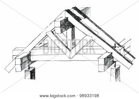 Layout Of A Roof Constructional Version
