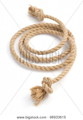 ship rope isolated on white background