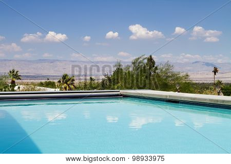 Swimming Pool With A View Of The Mountains