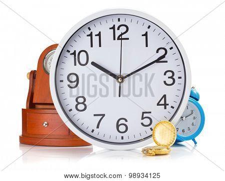 clock set isolated on white background