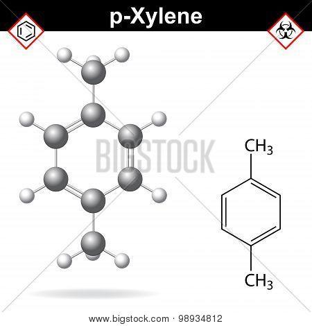 Xylene Molecule, Para-xylene Isomer