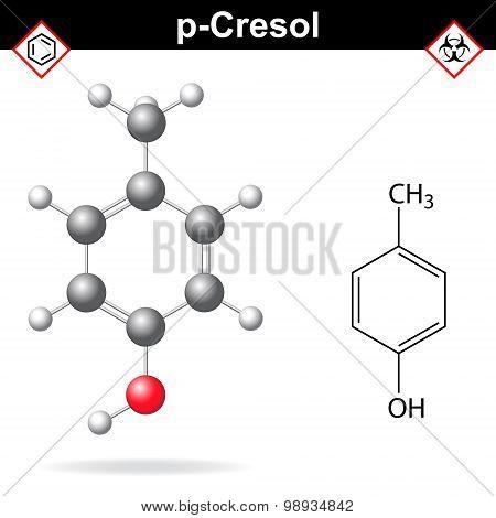 Cresol Molecule, Para-cresol Isomer