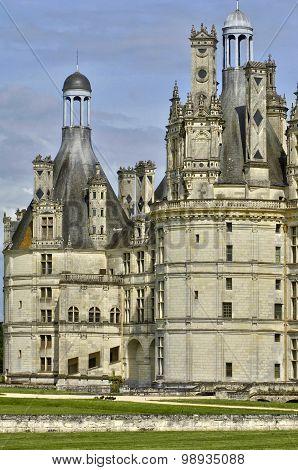 Renaissance Castle Of Chambord In Loir Et Cher