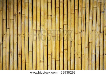 Bamboo wall texture and background.