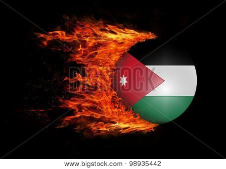 Flag With A Trail Of Fire - Jordan