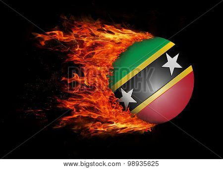 Flag With A Trail Of Fire - Saint Kitts And Nevis