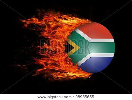 Flag With A Trail Of Fire - South Africa