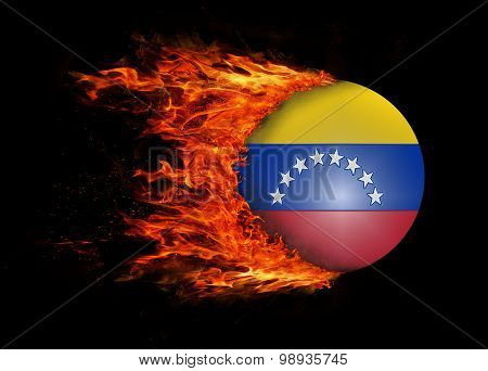 Flag With A Trail Of Fire - Venezuela