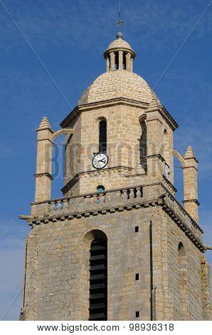 France, The Bell Tower Of Batz Sur Mer Church