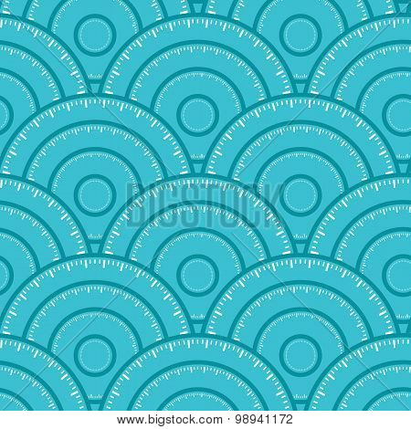 Circle With Ruler Shape Vector Seamless Pattern. You can find fu