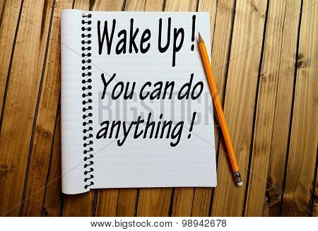 Wake Up You Can Do Anything Words