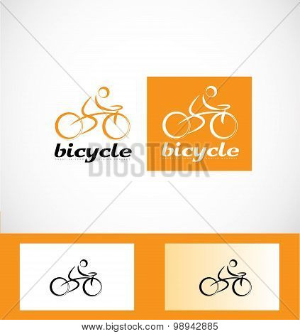 Bicycle Cyclist Logo Icon