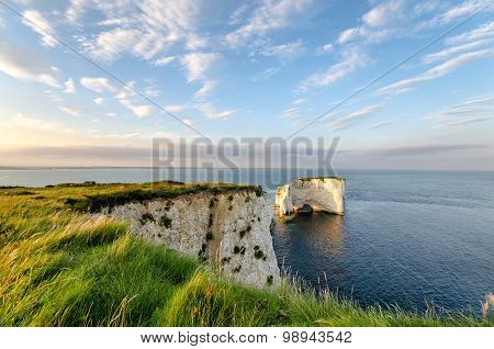 Old Harry Rocks Near Swanage In Dorset