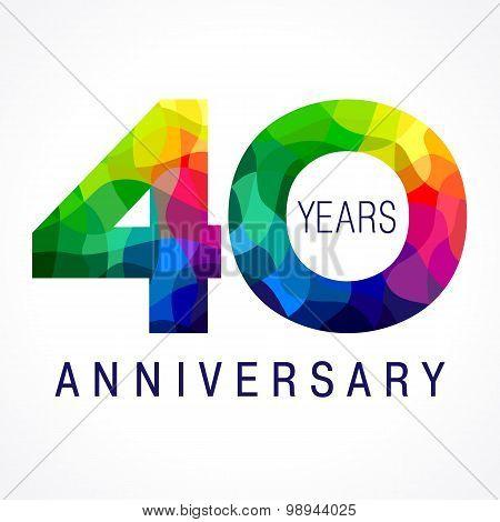 40 anniversary color logo