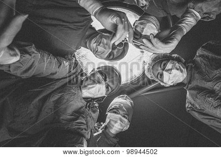 Surgeons Team,Black and white