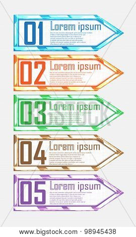 Modern Shining Elements For Business Infographics