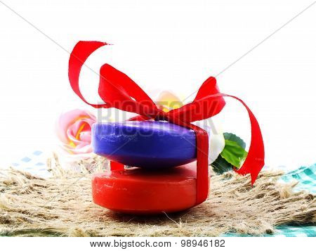 colorful mix fruit soap with vitamin from natural for clean skin and face