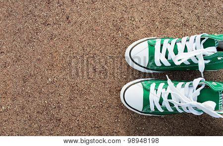 Shoe And Asphalt