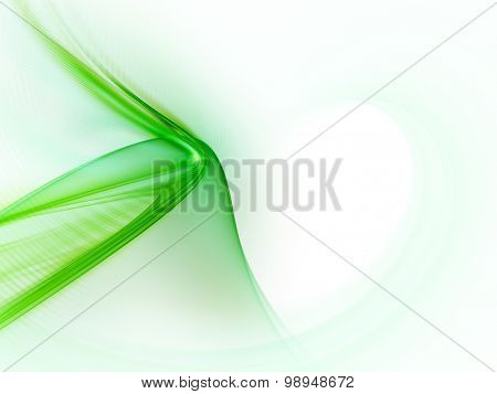 Abstract green background. Detailed computer graphics.