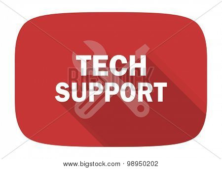 technical support flat design modern icon with long shadow for web and mobile app