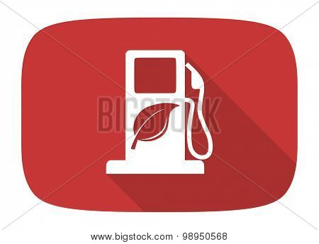 biofuel flat design modern icon with long shadow for web and mobile app