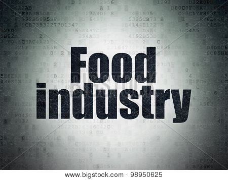 Industry concept: Food Industry on Digital Paper background