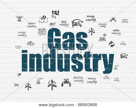 Manufacuring concept: Gas Industry on wall background