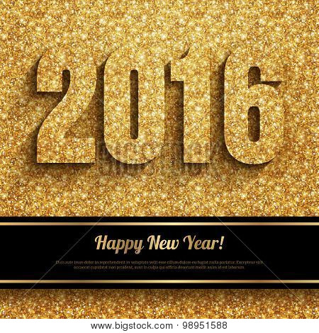 Happy New Year 2016 Greeting Card.