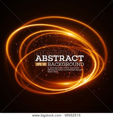 AFere Light Swirl Background. Vector illustration