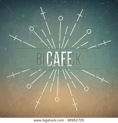 Abstract Creative concept vector design layout with text - Cafe. For web and mobile icon isolated on