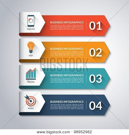 Arrow infographic template. Vector background