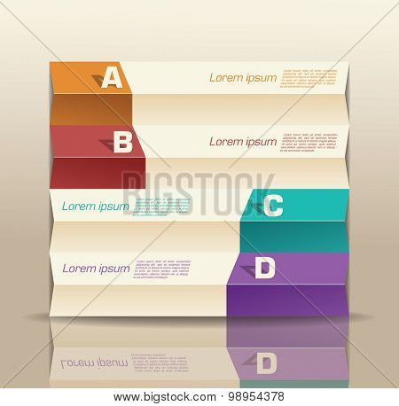 origami paper graph infographic