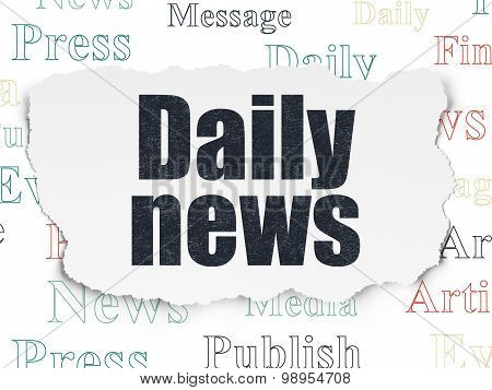 News concept: Daily News on Torn Paper background