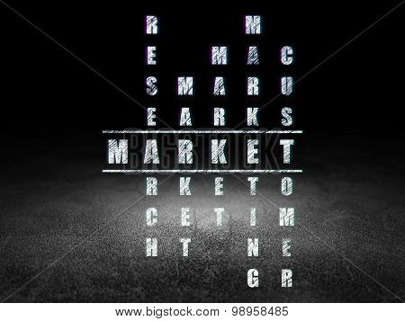 Marketing concept: word Market in solving Crossword Puzzle