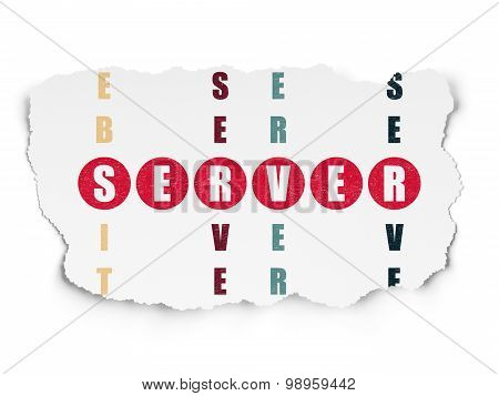 Web development concept: word Server in solving Crossword Puzzle