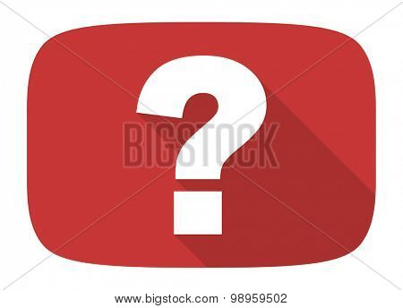 question mark flat design modern icon with long shadow for web and mobile app