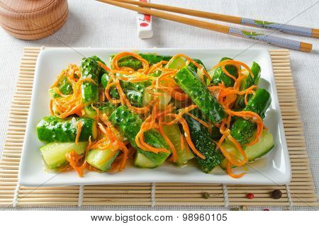 Cucumber Salad With Carrots