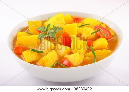 Indian cuisine -potato curry sauce.