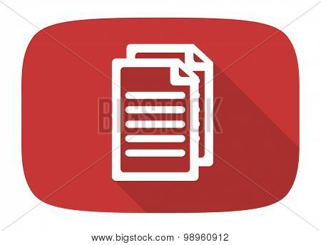 document flat design modern icon with long shadow for web and mobile app