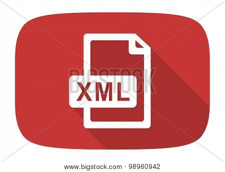 xml file flat design modern icon with long shadow for web and mobile app