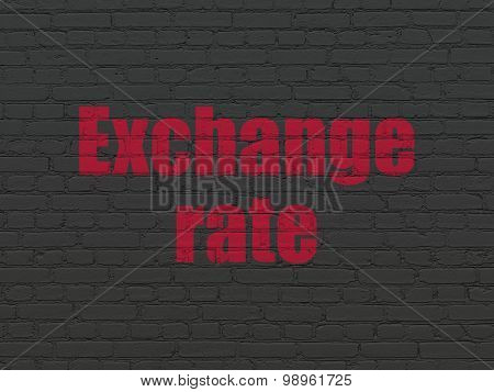 Money concept: Exchange Rate on wall background