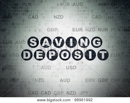 Currency concept: Saving Deposit on Digital Paper background