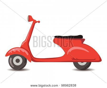 Scooter vector illustration.