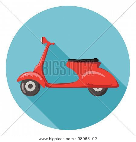 Scooter flat icon.Vector