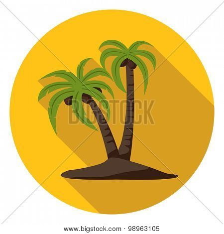 Palm Trees Flat Icon.Vector