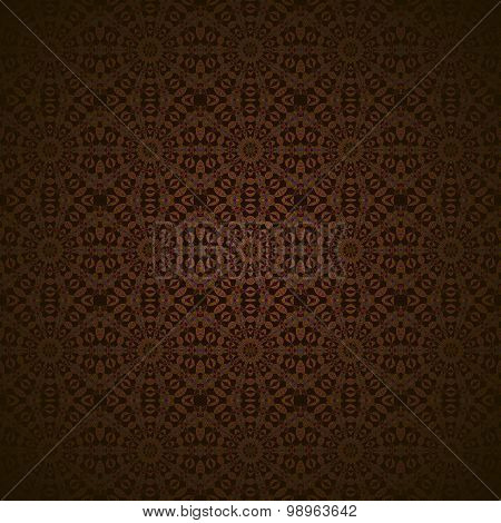 Seamless circles pattern dark brown blurred