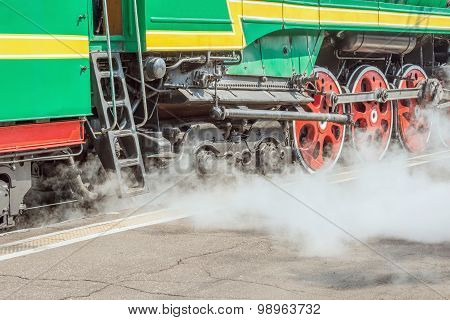 Retro steam locomotive.